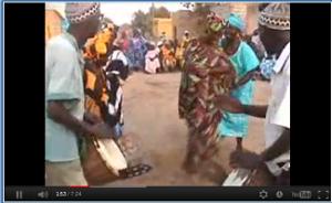 Village djembe celebration.